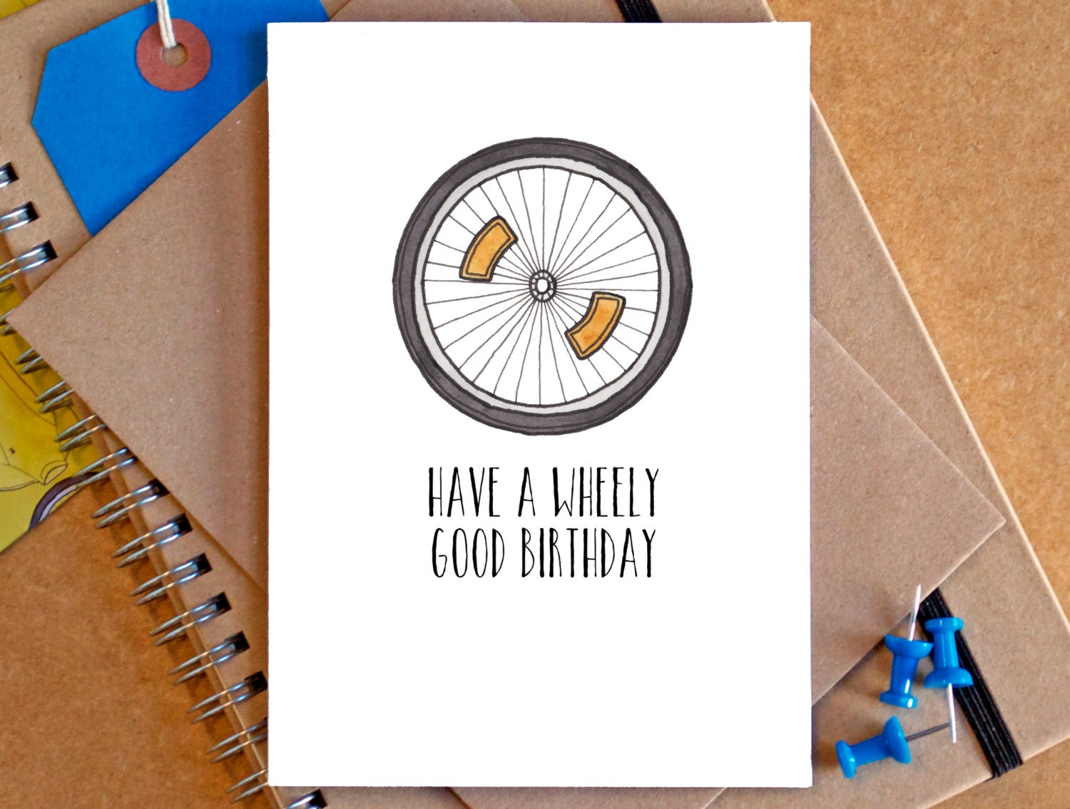 Bicycle Birthday Card Funny Bicycle Card Funny Bike Card – Bicycle Birthday Cards