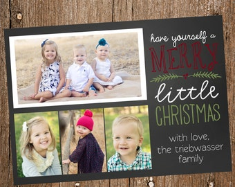 Multi-Photo Chalkboard Holiday Card- Digital