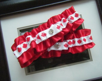 Canada Maple Leaf Garter Set