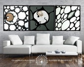 RESERVED for Matjaz. Large art modern wall. ALIVE trio with Swarovski®. Large art work. Extra large art. Large artwork. Large art abstract