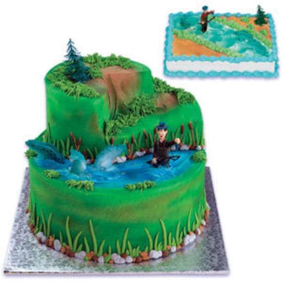 Items similar to Tangled Fisherman Cake Decorating Kit ...