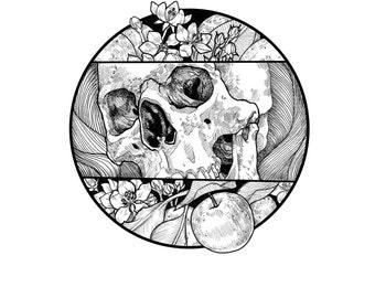 """Print of Original Drawing """"Core"""""""