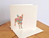 Liberty London Boston Terrier (design 2) Greeting Card