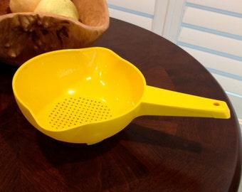 Vintage Tupperware Colander strainer yellow