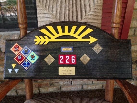 arrow of light award ebony oak plaque 3 w o arrow. Black Bedroom Furniture Sets. Home Design Ideas