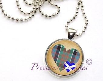 Tartan Heart Pendant MacDonald Clan Ranald