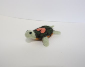 small needle felted turtle