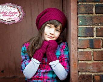 Child slouch beanie crochet crochet hat girls hat girls slouch hat toddler crochet winter hat fall hat purple pink hat crochet slouch beanie