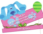 Pink Blue's Clues Thank you Card, Blues Clues Party, Blue's Clue Thank you Note