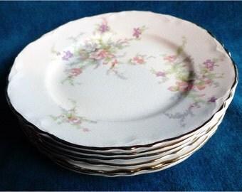 6 1940 1941 Homer Laughlin Bread plates