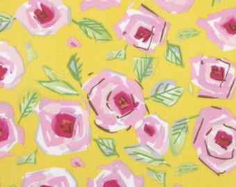 Freespirit Fabric Tiddlywink by Dena Designs Yellow Roses