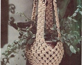 INSTANT DOWNLOAD, Vintage Pattern, Macrame plant hanger pattern , pdf pattern