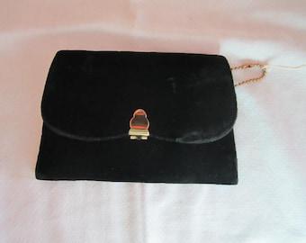Elegant Black Velvet  Clutch by . Formal Clutch. Handbag