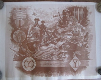 US Army 26th Infantry DIvision. Inf. Div. Yankee Division. Poster. Unique.