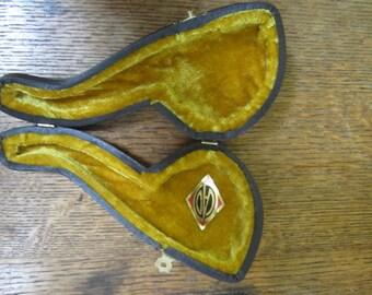 Vintage  Meerschaum Pipe Case. Made in Turkey.