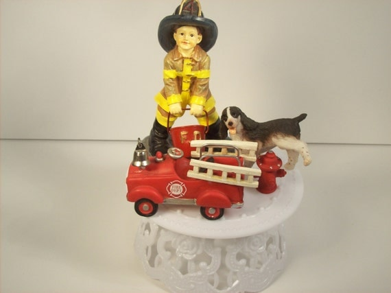 firefighter wedding cake toppers funny fireman birthday cake topper fighter kid boy 14267