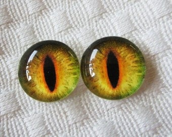 14mm glass eyes for jewelry making or crafts