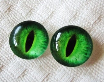 Jewelry eyes glass eyes 14mm cabochons