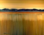 ORIGINAL ABSTRACT Surrealism Painting Large Landscape 30x40 Modern Art  By Thomas John