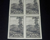 US stamps 1934 National Parks  Great Smokey Mountain  block of 4 unused