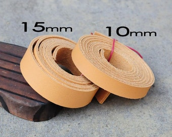 1 Yard (900X10mm) or (900x 15mm) Camel Beige Cowhide Lace Strap, Genuine Leather Strap