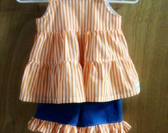 Summer Top and Ruffle Shorts, size 4t
