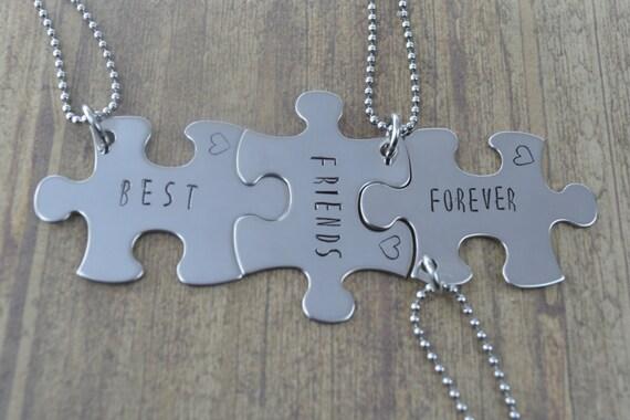 Migliori amiche per sempre puzzle pezzo collana impostata in for Disegni di due migliori amiche