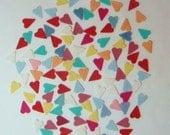 Tiny Hearts 100 pcs.- Wool Felt Blend Die Cuts-#0033