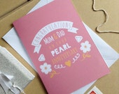 Pearl Wedding Anniversary Card