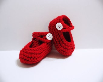 Christmas Baby Jane Booties - Size: 0-3 Months