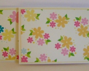Set of 2 Floral note cards