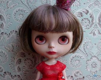 SALE % Red Lace Maxi Blythe Dress and Petticoat Set | Pullip Dress