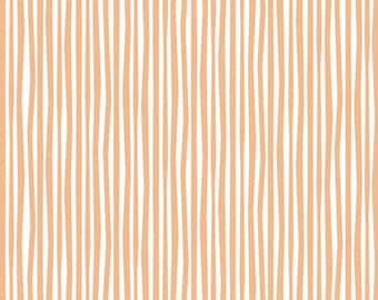 Cloud9 Organic Fabrics - Simpatico - Straws Peachy A 1/2 YD