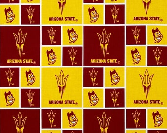 "Fat Quarter ONLY (18""x22"") of Arizona State Sun Devil Fabric"