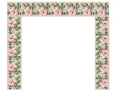 Pink raised floral fireplace surround