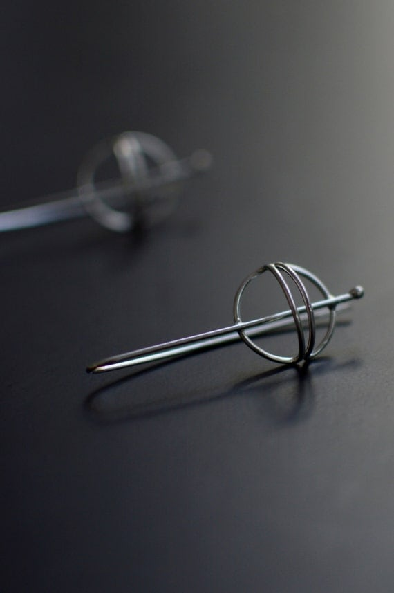 Sterling Silver Earrings - Contemporary Design - Modern - Wire Structure # 02