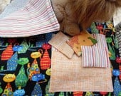 "Nip Napper Cat Blanket with 3 Organic Toys ""Sophisticats"""