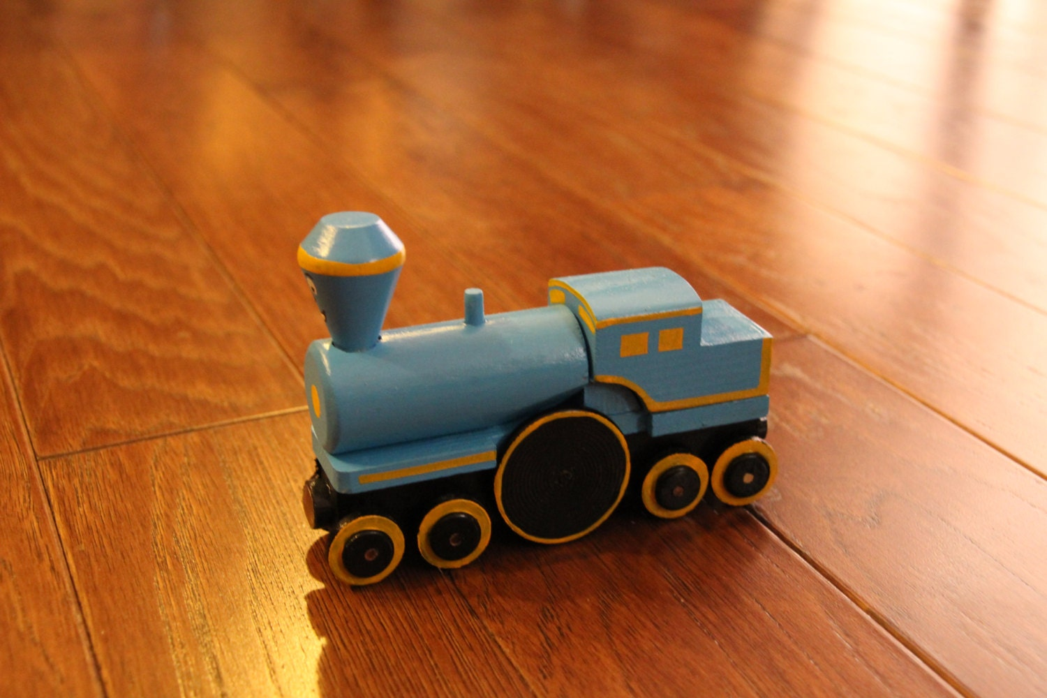 Handmade Wooden Toy Train-Little Engine that Could
