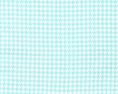 Fat Quarter Fabric for quilt or craft Michael Miller Tiny Houndstooth in Aqua