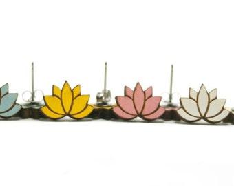 Lotus Earring - Handmade - Laser Cut Jewelry - Laser Cut