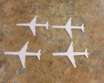 Grey airplane die-cuts