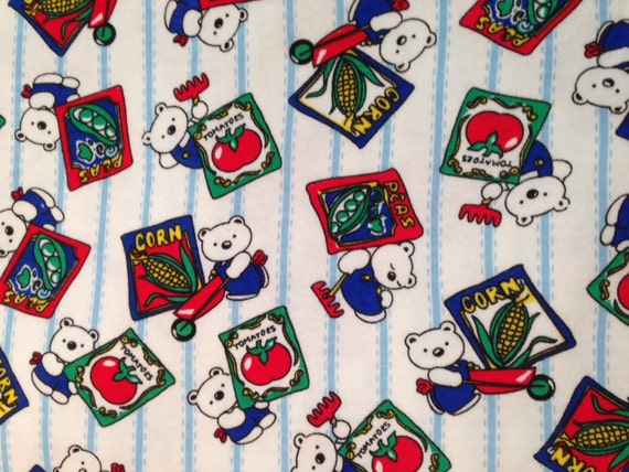 Children 39 s print jersey knit cotton fabric 3 yards for Knit fabric childrens prints