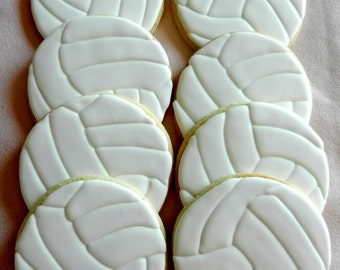 Volleyball Hand decorated Sugar cookies (#2398)