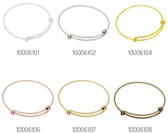 5PCS 1.5mm Expandable Bracelet Bangle Adjustable Bracelet Stacking Bracelets 100061