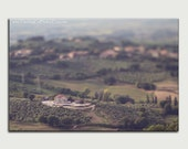 Umbria landscape fine art canvas dreamy surreal Italy photo large wall art home decor green brown office decor gift for him scenic view