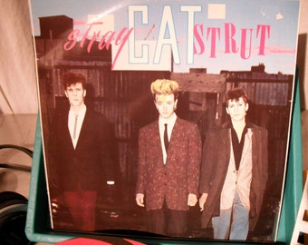 Stray Cats 45RPM Stray Cat Strut Produced By Dave Edmunds On Arista Records