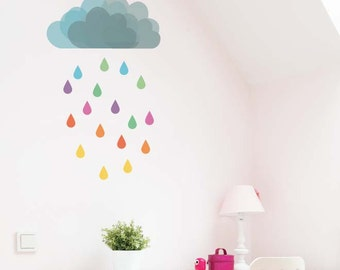 Cloud Rain Removable Wall Sticker | LSB0098WHT-MBZ