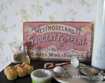 Grocery Sign/Print for Dollhouse Miniature