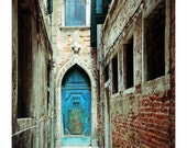 Venice Travel Photo, Venice Italy Photos, Turquoise, Teal, Blue, Art, Wall Art, Venice Photograph, Venice Scenery, Architectural, Door Photo