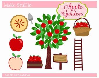 Apple clip art ,Thanksgiving apples Digital clip art, apple pie clip art, apple tree clip art, JPEG & PNG,instant download